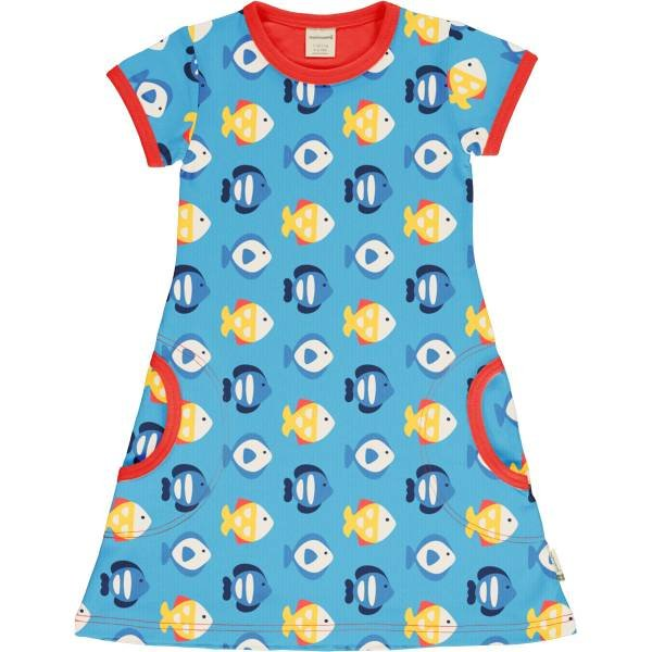 Maxomorra Dress SS Tropical Aquarium