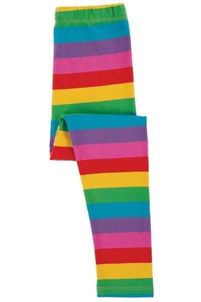 Frugi Libby Striped Leggings Foxglove Rainbow Stripe