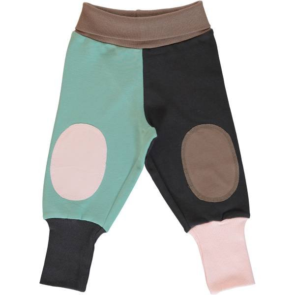 Maxomorra Pants Rib Sweat Block Multi Forest