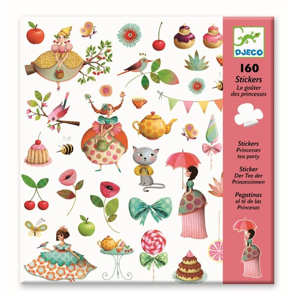 Djeco Stickerbogen Teeparty der Prinzessin