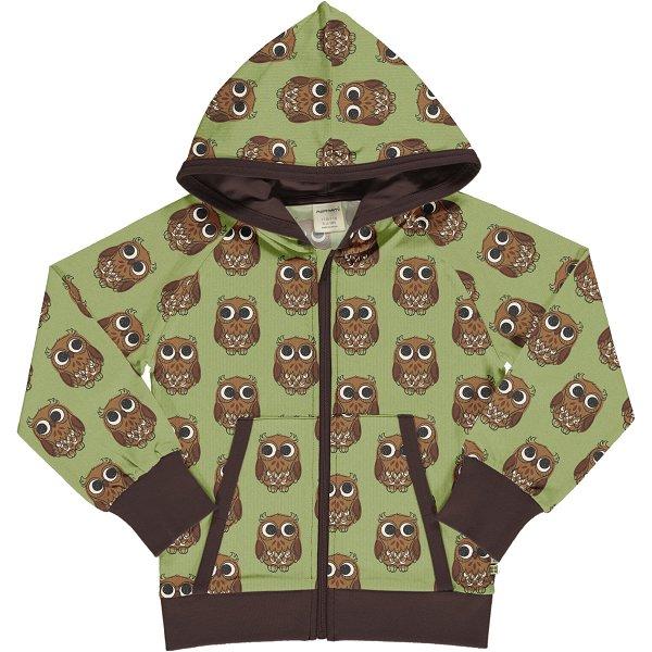 Maxomorra Cardigan Hood Sweat Owl