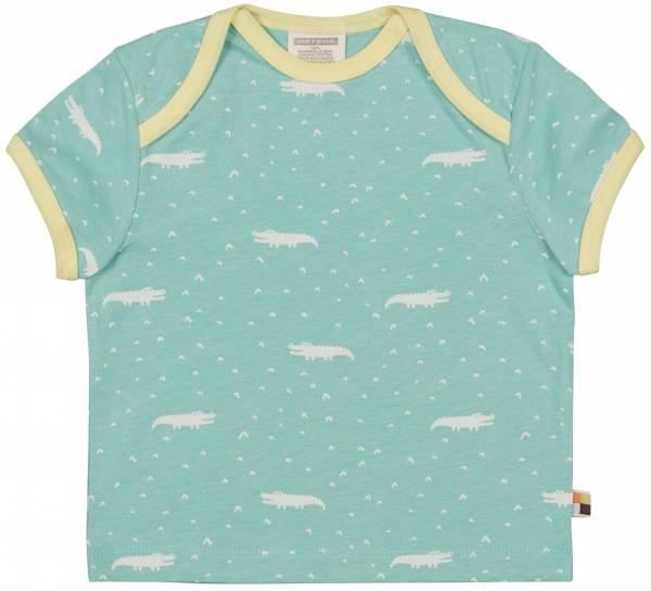 Loud + Proud T-Shirt Krokodil Muster Mint