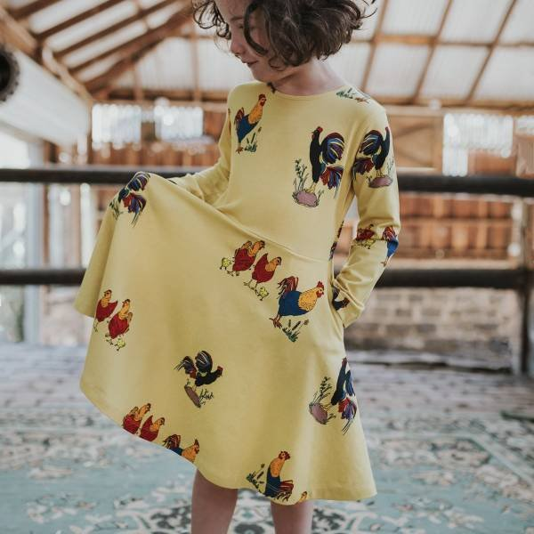 Oomph & Floss Brock The Rooster Dress Straw