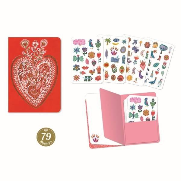 Djeco Notizbuch mit Stickern Aurelia
