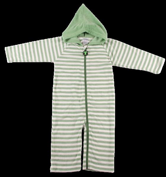 Ducksday Summer Onesie Green Stripe