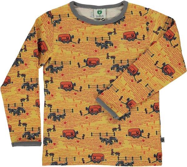 Smafolk T-Shirt LS Horse Landscape Ochre