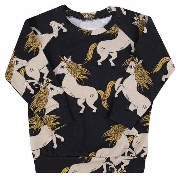 Dear Sophie Black Unicorn Longsleeve