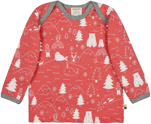 Loud + Proud Shirt LS Melon Winter Print