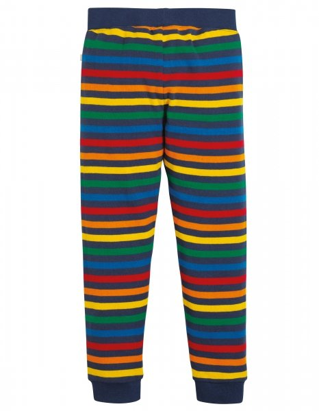Frugi Leap About Cuffed Leggings Rainbow Stripe