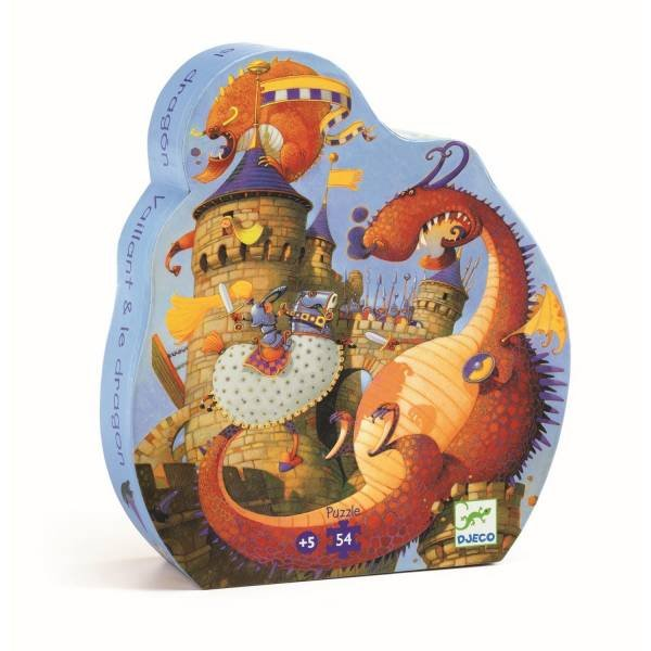 Djeco Puzzle Vaillant und der Drache 54 Teile