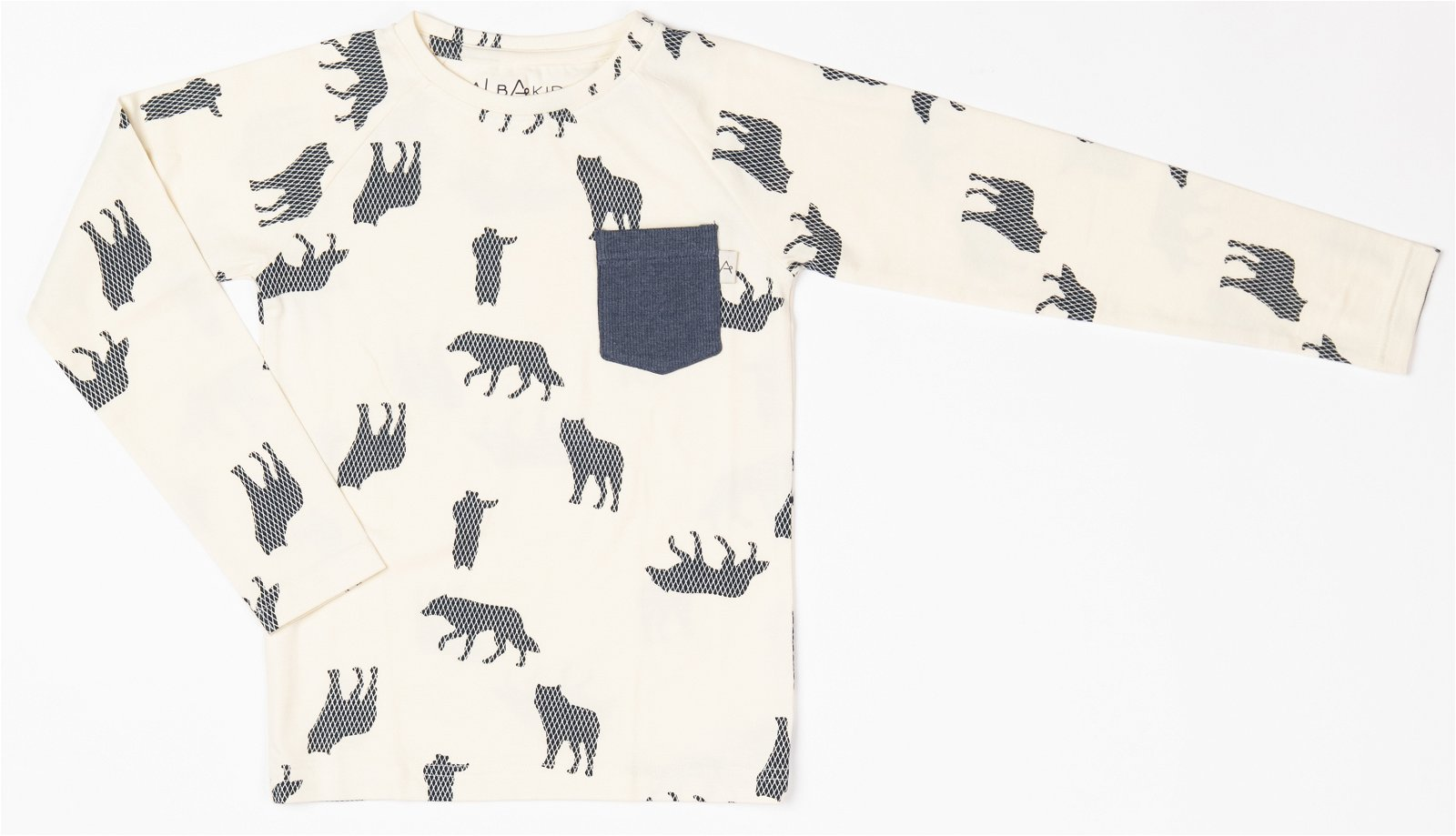 25b229a93e Albababy Haines Blouse Mood Indigo Playing Wolfes | Funky4Kids