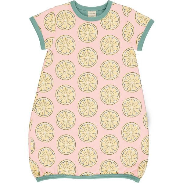 Maxomorra Dress Balloon SS Fresh Lemon