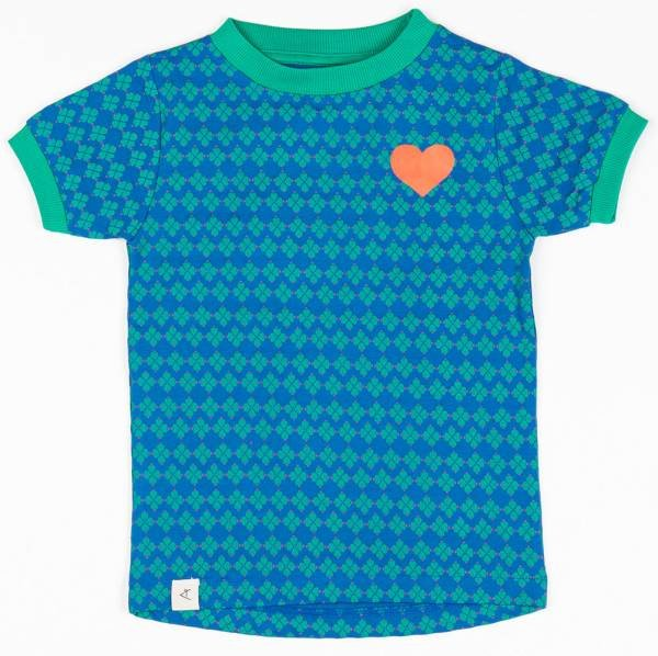 Albababy Bella T-Shirt Snorkel Blue Flower Hearts