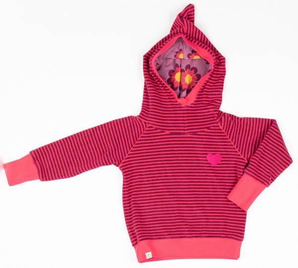 Albababy Habian Hood Blouse Raspberry Magic Stripes