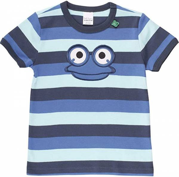 Fred`s World by Green Cotton Hello Fred T-Shirt, Blue