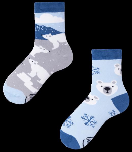 Many Mornings Polar Bear Socks
