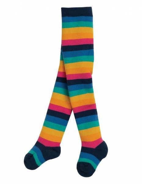 Frugi Toasty Tights Rainbow Stripe