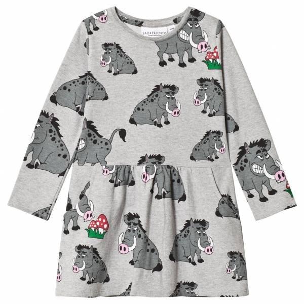 Tao Friends College Dress Multi Animal Vildsvinet Grey Kleider