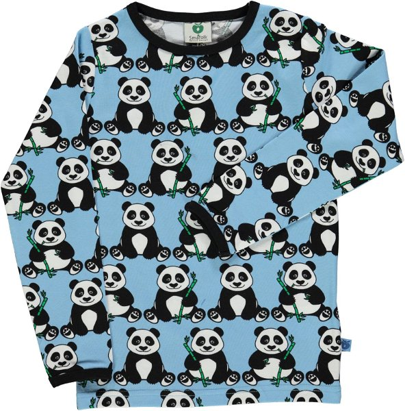 Smafolk T-Shirt LS Panda Air Blue