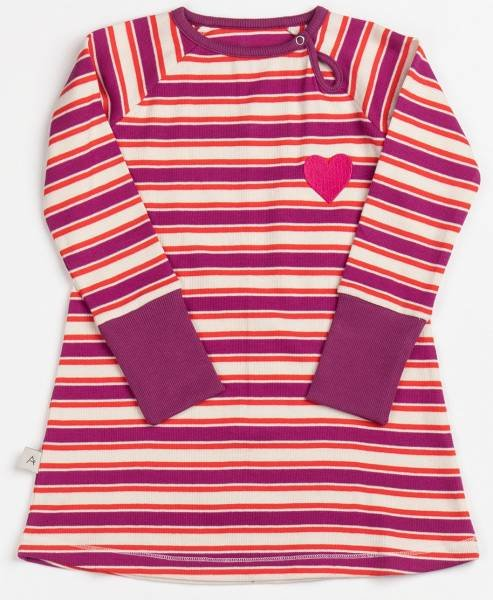 Albababy Merry My School Dress Boysenberry Striped