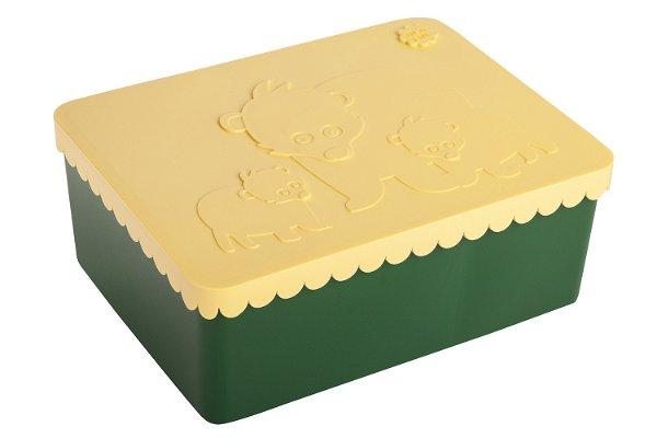 Blafre Lunchbox Bear Dark Green Light Yellow