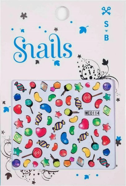 Snails 3D Nail Tattoo Sticker Candy Miracle