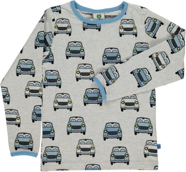 Smafolk T-Shirt LS Cars Light Grey Mix