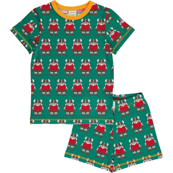 Maxomorra Pyjama Set SS Classic Viking
