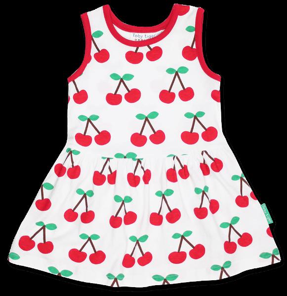 Toby tiger Cherry Print Summer Dress