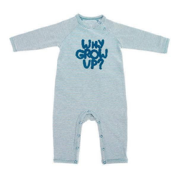 Lily Balou Babysuit Gerard Stripes Petrol