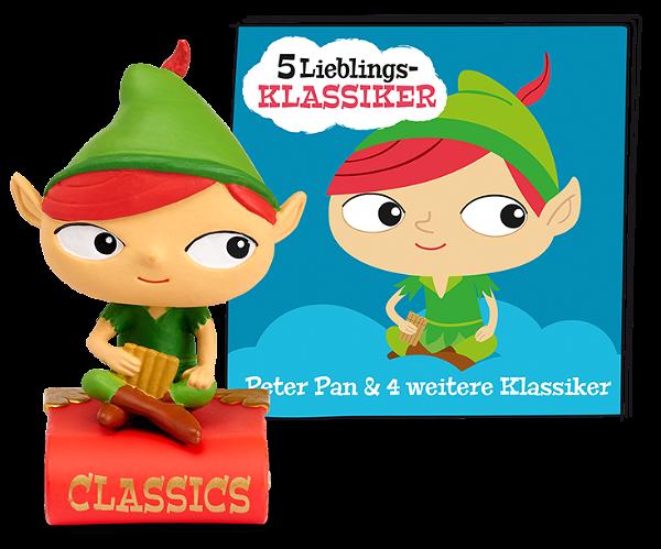 Tonies 5 Lieblings-Klassiker Peter Pan und 4 weitere Klassiker
