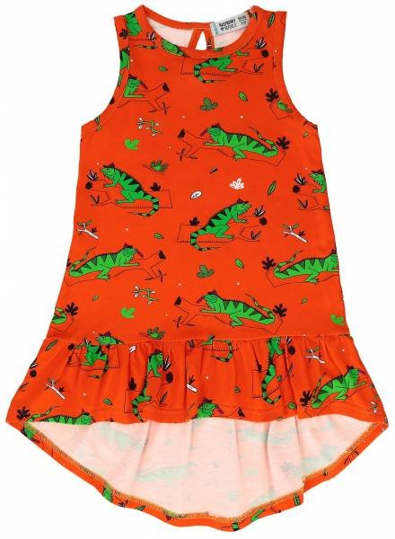 Raspberry Republic Dress Ignacio the Iguana Red