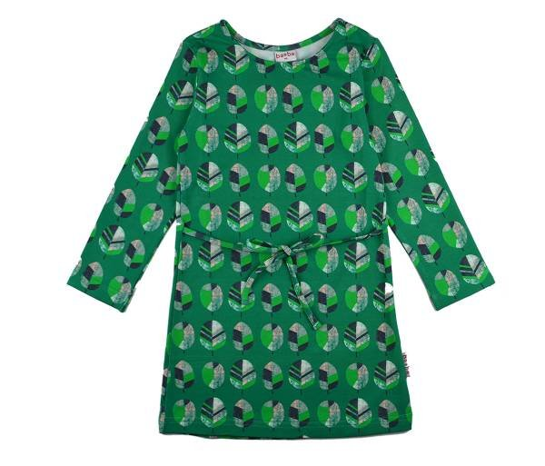 Baba Babywear Dress Longsleeve Green Leaf