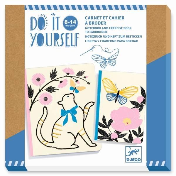 Djeco DIY - Notizbücher zum Besticken - Garten der Poesie