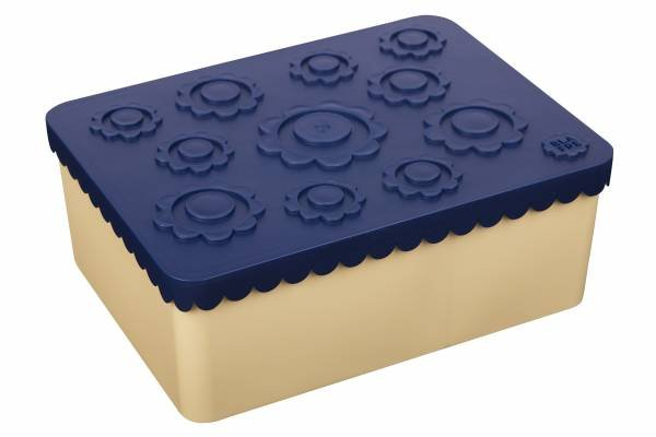 Blafre Lunchbox Flower Navy Beige