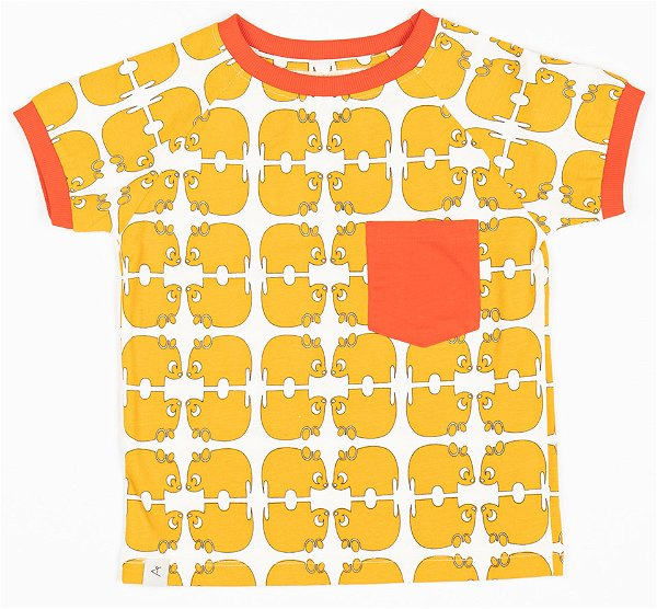 Albababy Simon T-Shirt Bright Gold Wanna Be An Animal