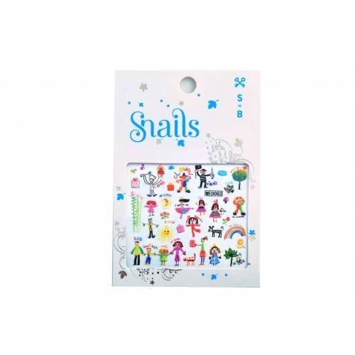 Snails 3D Nail Tattoo Sticker Baby Art