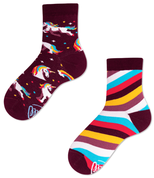 Many Mornings Unicorn Socks