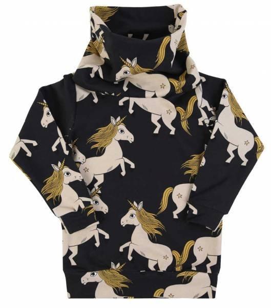 Dear Sophie Black Unicorn Tube Sweatshirt