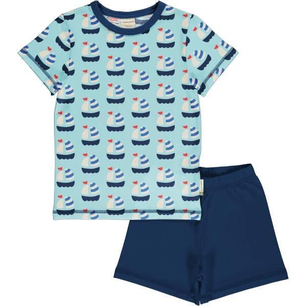 Maxomorra Pyjama Set SS Sailboat