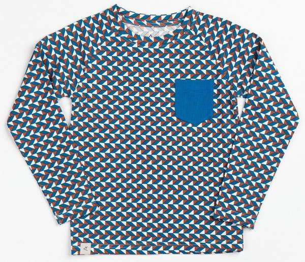 Albababy Stephan Blouse Wren Triangles Rock