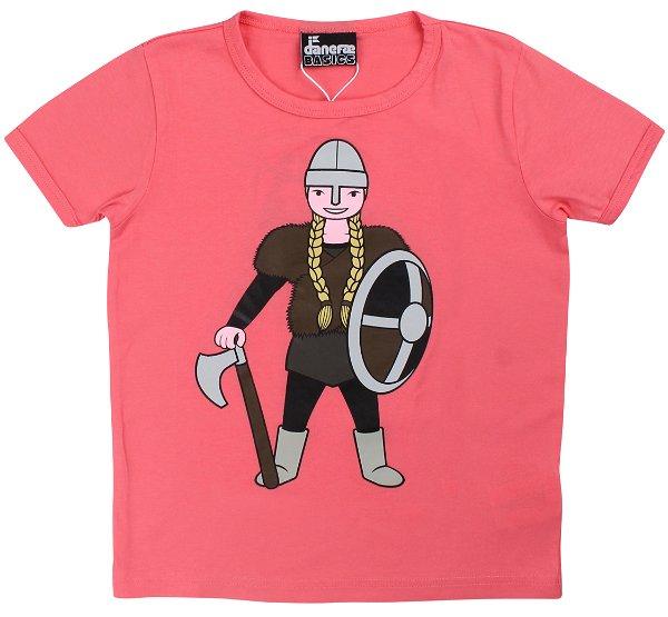 Danefae Basic SS T-Shirt Warm Coral Sif
