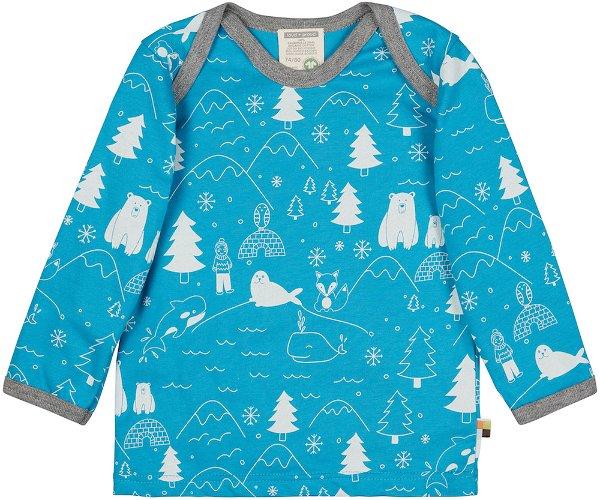 Loud + Proud Shirt LS Aqua Winter Print
