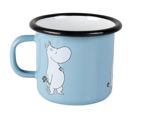 Muurla Emaille Tasse Moomin Retro Light Blue 370 ml
