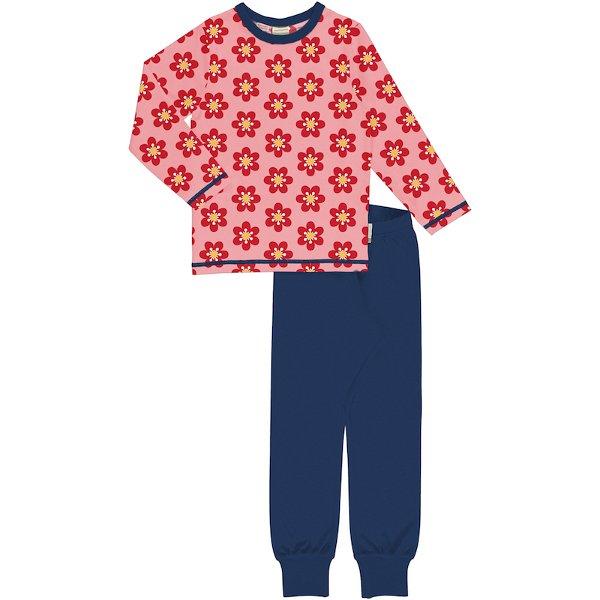 Maxomorra Pyjama Set LS Anemone