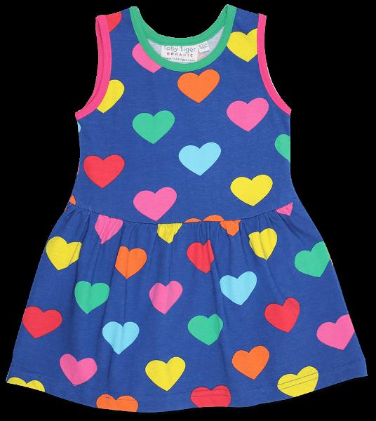 Toby tiger Multi Heart Print Summer Dress