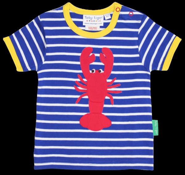 Toby tiger Lobster Applique T-Shirt