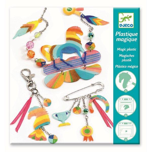Djeco Magisches Plastik Rainbow Horse