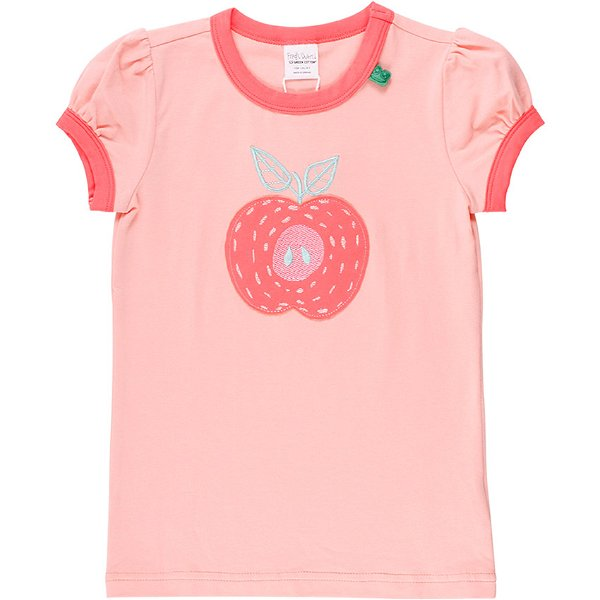 Fred`s World by Green Cotton Fruit Apple T-Shirt, Peach