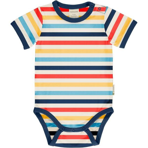 Maxomorra Body SS Stripe Milk